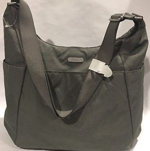 a8ff254b7c Baggallini Bags - NEW~Baggallini Travel hobo gray zebra bag